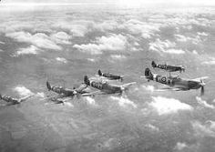 A flight of Spitfires Battle of Britain 1940