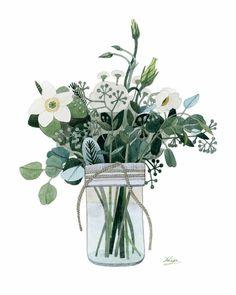 Forest Bouquet Art Print by Yuliya | Society6 #guestpinner @HappyMakersBlog @homeandgardenNL