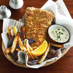 What's for dinner? This fresh n' clean Fish  Chips Recipe just might fit the bill: http://www.cleaneatingmag.com/recipes/dinner-tonight/fish-chips/