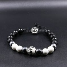 Little Things, Pretty Little, Beaded Bracelets, Black, Jewelry, Natural Stones, Bead, Flowers