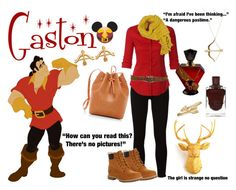 """""""Gaston Inspired Outfit"""" by bunnyarielle ❤ liked on Polyvore featuring Disney, Frame, Timberland, Villain, White Faux Taxidermy, Sydney Evan, Bling Jewelry, LE3NO, Paige Denim and Pinko"""