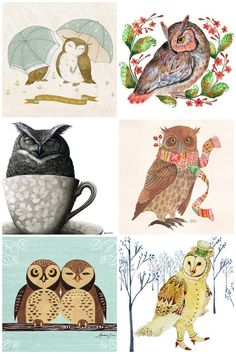 Free 2013 printable owl calendar and other links to owl stuff - love me some owls!