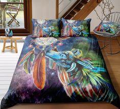 3d Bedding Sets, Comforter Sets, Unique Bedding, Comforter Cover, Blanket Cover, Quilt Cover Sets, Style Indien, Indian Animals, Cotton Duvet