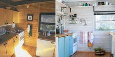 NY MED PANELLAKK: Etter at veggene på denne hytta ble vasket grundig med kraftvask ble tre strøk hvit panellakk fra Scannox påført.