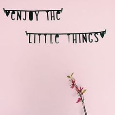 #Wordbanner #tip: Enjoy the little things - Buy it at www.vanmariel.nl - € 11,95