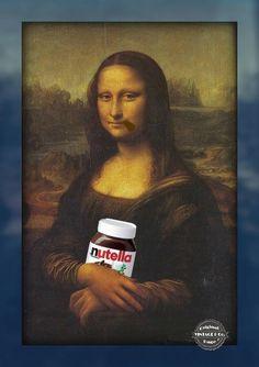 Mangio la Nutella col cucchiaio perchè il pane fa ingrassare! - La Gioconda --------- ★ Vintage & Co. ★  Pinterest: http://www.pinterest.com/VintageeCo/aforismi/ -  Facebook: https://www.facebook.com/VintageeCo