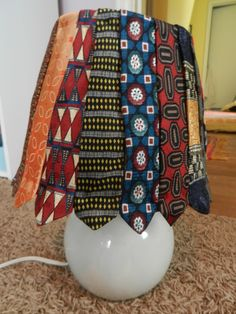 neckties turned lampshade