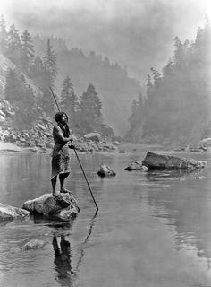 Edward S. Curtis:  A Smoky Day at the Sugar Bowl—Hupa, ca. June 30, 1923
