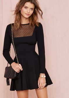 Shop Black Long Sleeve Contrast Sheer Pleated Dress online. Sheinside offers Black Long Sleeve Contrast Sheer Pleated Dress & more to fit your fashionable needs. Free Shipping Worldwide!