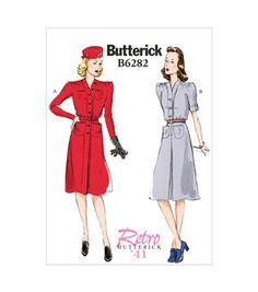 Butterick Pattern B6282-B50-Misses' Dress And Belt-8-10-12-14-16