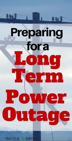 How do you prepare for a long term power outage? Long term meaning that the power will be out for longer than a few hours or days. Find out all the must know info and make sure you are fully prepared. -- Visit the image link for more details. Emergency Preparedness Kit, Emergency Preparation, Emergency Supplies, Survival Prepping, Survival Skills, Survival Blog, Survival Gear, Homestead Survival, Emergency Planning