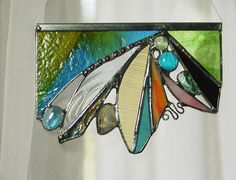 Abstract with glass rock, stained glass. $35.00, via Etsy.