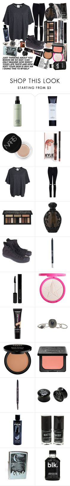 """O-M- G (read D)// I'm just the worst kind, of guy to argue, with what you might find. And for the last night I lie… could I lie with you?"" by thelyricsmatter ❤ liked on Polyvore featuring Cover FX, Smashbox, NARS Cosmetics, Cheap Monday, Boohoo, Kat Von D, Converse, Urban Decay, e.l.f. and L'Oréal Paris"