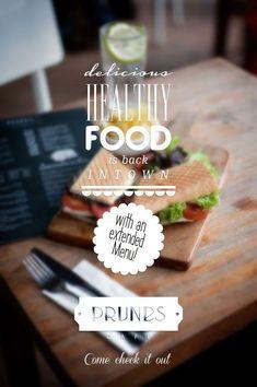 Prunes Café/Restaurant by Rola Ghotmeh, via Behance #poster #typography #design