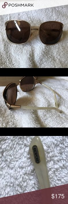 2bcdafe813 TOM FORD AVIATOR SUNGLASSES with pearl frames TOM FORD AVIATOR SUNGLASSES  WITH PEARL FRAMES. Right
