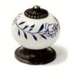 Topex Decorative Cabinet Hardware White Porcelain Cabinet Knob 32MM