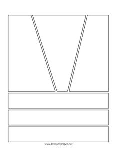 If your comic needs a big opening action sequence, this blank graphic novel page will be perfect for your needs. Angled top boxes allow the artist to display any sort of action, and smaller bottom boxes can be used for dialogue or details. Free to download and print