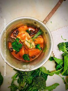 Padellaccia di sogliola in umido con patate, cimette di broccolo e olive taggiasche Olive, Thai Red Curry, Broccoli, Ethnic Recipes, Food, Essen, Meals, Yemek, Eten