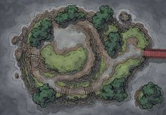 The Island Plateau, a battle map for D&D / Dungeons & Dragons, Pathfinder, Warhammer and other table top RPGs. Tags: bridge, cliff, coast, island, japan, ocean, road, sea, shore, shrine, skill challenge, temple, trail, rain, storm