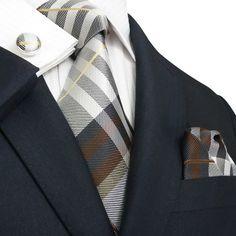 Popular #Plaid #GotKnot - deluxe set 29M, $49.95 (http://www.gotknot.com/got-knot-deluxe-set-29m/) #Groom #Wedding #Business #Men #Tie