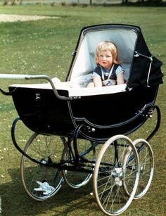 Diana, Princess of Wales, as a baby. Prince William's face resembled his mom's as a baby.