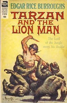FRANK FRAZETTA - art for Tarzan and the Lion Man by Edgar Rice Burroughs - 1963 Ace Books
