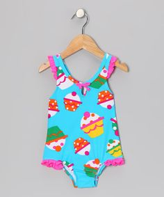 Oh my if only I had a girl too, a cupcake swimsuit! - Toddler by Coral & Reef on #zulily today!