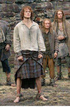 Sam Heughan as Jamie Fraser Outlander Outlander Tv Series, Outlander Claire, Diana Gabaldon Outlander Series, Outlander Season 1, Sam Heughan Outlander, Outlander 2016, Outlander Quotes, Outlander Casting, Jamie Fraser