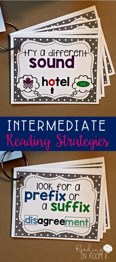 These reading strategy posters provide students and teachers with great strategies (accompanied my a visual) to read an unknown word.