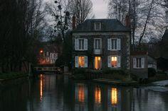 River house in Burgundy, France