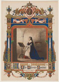 Anne Boleyn published by Charles Jefferys, after Unknown artist chromolithograph, 1846 13 in. mm x 239 mm) paper size Given by John Hall, 1972 NPG Anne Of Cleves, Anne Boleyn, Mary Boleyn, Age Of King, Marie Stuart, Tudor Dynasty, Plantagenet, Anna, England