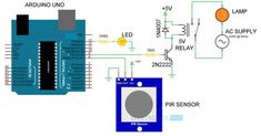 Automatic Room Lights using Arduino and PIR Sensor Circuit Diagram 2