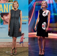 Rosamund Pike In Alexander McQueen - 'What We Did On Our Holiday' Madrid Photocall & 'El Hormiguero' Show