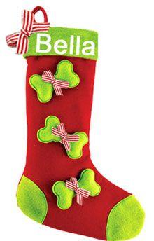 personalized red plaid cuff paw dog bone christmas stocking need