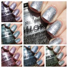 China Glaze Crinkled Chrome Collection Swatches