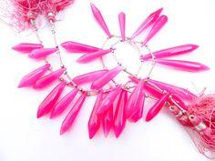Pink Chalcedony Briolette Top Quality Very by GemsPebblesandBeads, $25.00