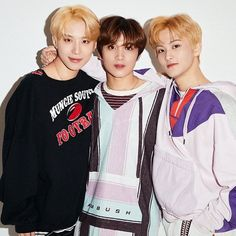 Jungwoo, Mark, and Haechan