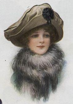 Vintage Illustration Hundred-year-old Velvet Hats – A Hundred Years Ago Victorian Hats, Victorian Women, Edwardian Era, Images Vintage, Vintage Pictures, Vintage Photographs, Vintage Beauty, Vintage Fashion, Velvet Hat