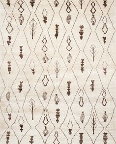 MOR331A Rug from Moroccan collection.  Naïve nomadic symbols in natural wool colors lend a casual look to this plush hand-knotted rug from the Moroccan collection by Safavieh.  Adapting beautifu