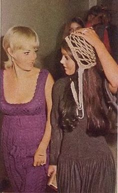 Priscilla in Vegas to watch Elvis perform at the International Hotel 1969.