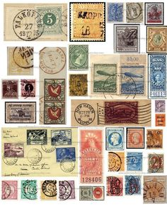 Travel journal pages · junk journal · vintage lettering · pixels old stamps, rare stamps, vintage Old Stamps, Rare Stamps, Vintage Stamps, Vintage Paper, Vintage Lettering, Scrapbook Journal, Journal Stickers, Printable Stickers, Free Printable