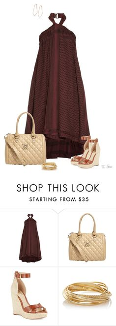 """Wedges"" by ksims-1 ❤ liked on Polyvore featuring CECILIE Copenhagen, Love Moschino, Vince Camuto and The Limited"