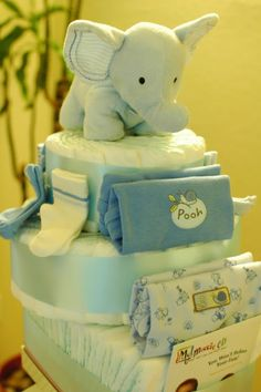 Diaper Cakes + Devotional Diaper
