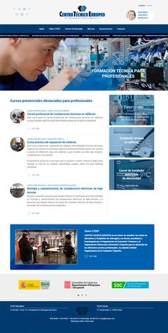 Rediseño web de la página web del centro de formación profesional CTEEP. Ahora el cliente cuenta con una web mucho más simple, corporativista, y con la información más ordenada, separada y jerarquizada. Ahora es mucho más sencillo encontrar la información sobre un curso de electricidad, gas o lampistería en Barcelona y Girona.  #diseñoweb #formación #cteep