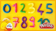 Apprendre les chiffres en français pour enfants en pâte à modeler Play-d... Play Doh, French Numbers, Neon Signs, Learning, Kids, Images, France, Club, Website
