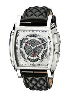 Invicta Invicta S1 5660 - Reloj cronógrafo de cuarzo para hombre, correa de cuero color negro
