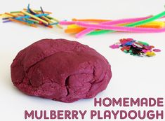 Childhood 101 homemade mulberry playdough recipe