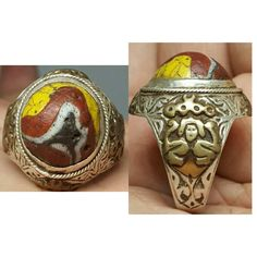 Roman Ancient Mosaic Glass Silver Wonderful Ring # S | eBay