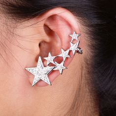 Rhinestone Star Ear Cuff