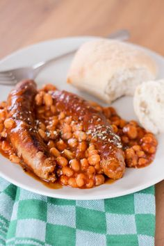 #sausage, #beans